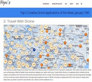 Top 5 Creative Drone Applications of the Week, January 19th