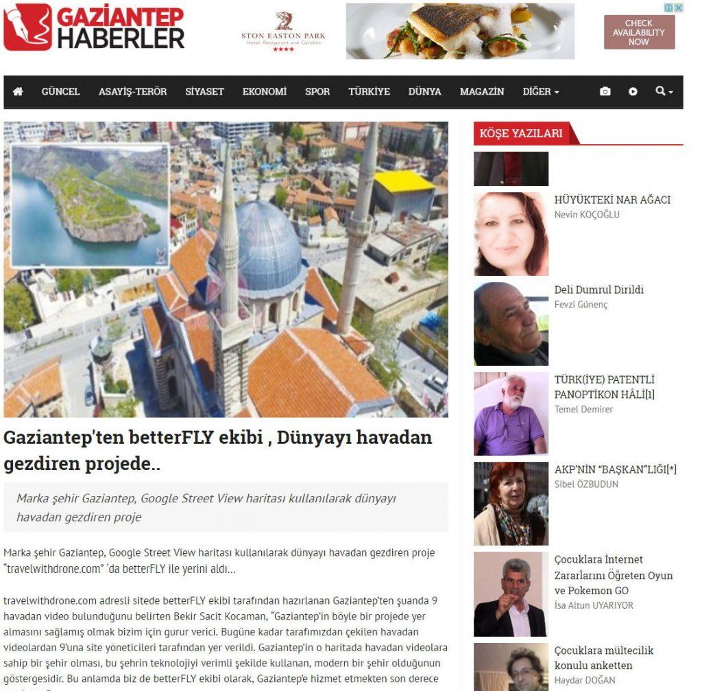 Gaziantep'ten betterFLY ekibi , Dünyayı havadan gezdiren projede.. - Turkey