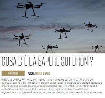 COSA C'È DA SAPERE SUI DRONI? - Itally