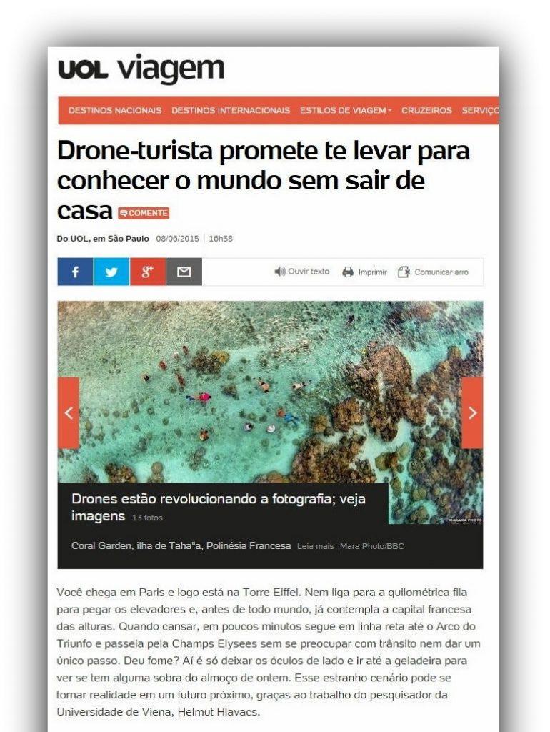 Drone-turista promete te levar para conhecer o mundo sem sair de casa... - Veja mais em