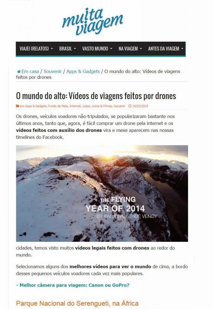 O mundo do alto: Vídeos de viagens feitos por drones - Brasil