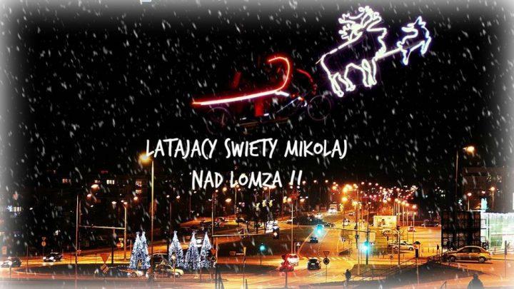 Latający Mikołaj nad Łomżą