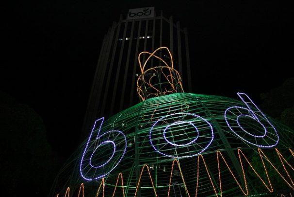 Navidad en la plaza Castellana