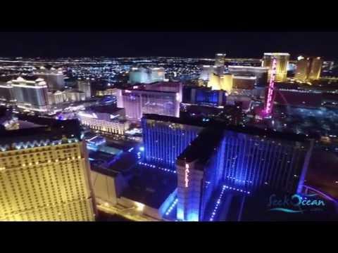 Las Vegas Casino Strip Night Drone Flight