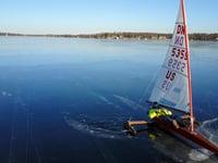 Slick Ice on Lake Delavan