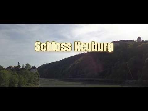 Burg Neuburg aufnahmen mit der flugdrohne