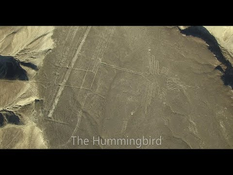 Drone flight over Nazca Lines