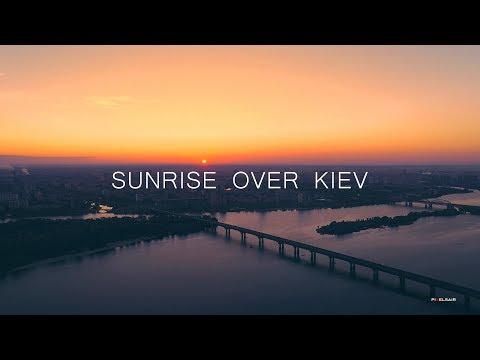 Восход солнца над Киевом
