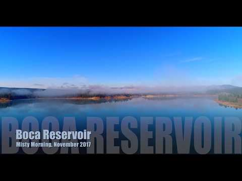 Boca Reservoir Misty Morning 4K