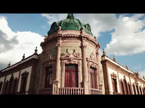 Ciudad Oaxaca desde el aire con drone