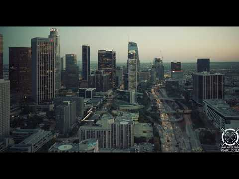Above Downtown Los Angeles in 8K