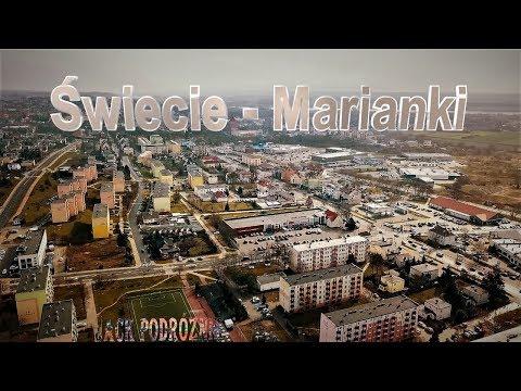 Świecie Marianki widok z drona