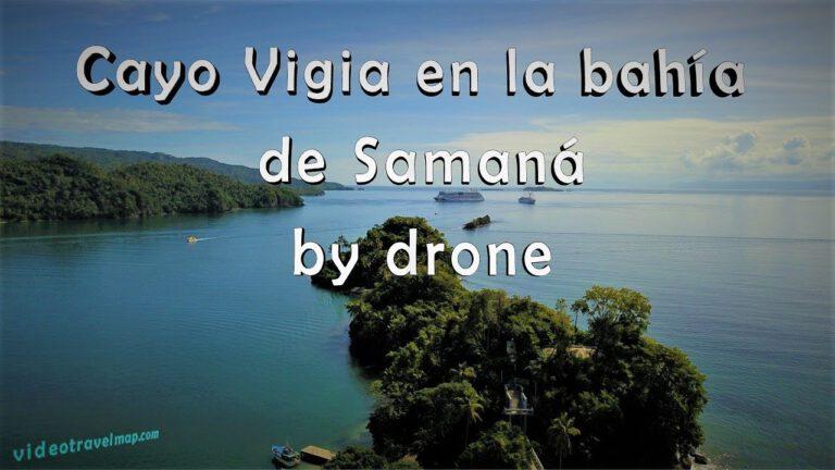 Cayo Vigia Samana Bay by drone