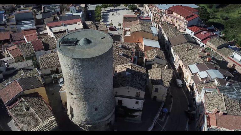Biccari vista da un drone Italia