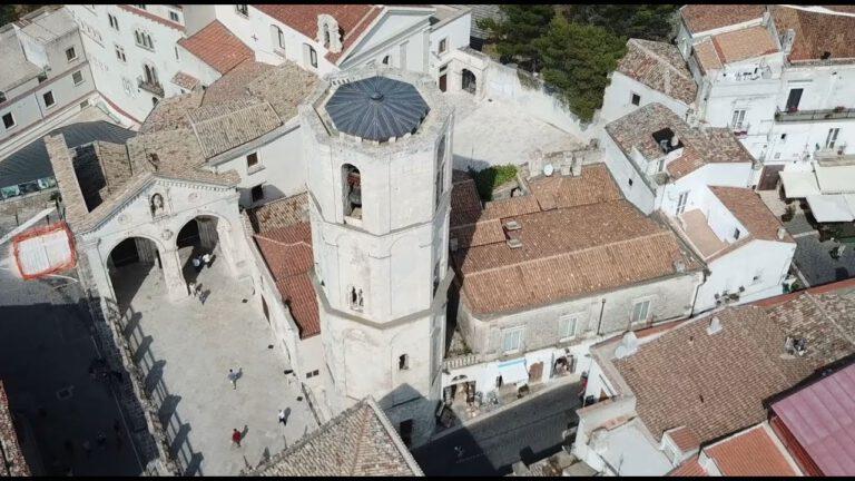 Monte Sant Angelo ripresa dal drone