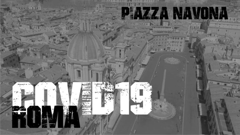Riprese aeree di Piazza Navona