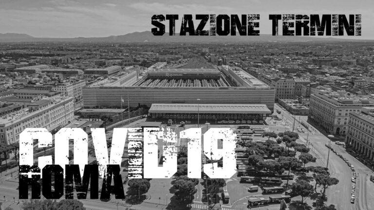 Stazione Termini Roma vista da un drone