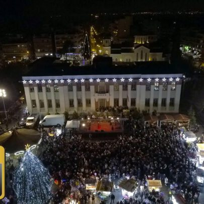 Lighting of a Christmas tree in Kalamaria