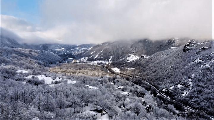 Зима в Рача Грузия