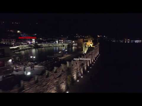 Nafpaktos Epic castle from a drone's view